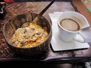 Mein Frühstück im Hostel (nicht Thai-like ;-))