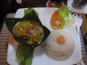 Khmer Amok - traditionelles Gericht in Kambodscha! Lecker!