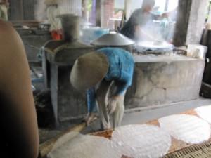 ...wenn die Frau vom Fach Reispapier macht.