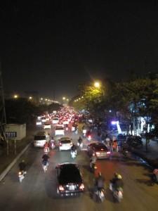 Wie üblich das Verkehrschaos