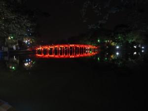 Der Hoan Kiem See bei Nacht