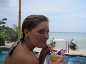 Mein letzter Shake am Strand :-(