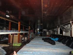 So sieht also ein Nightboat von innen aus!