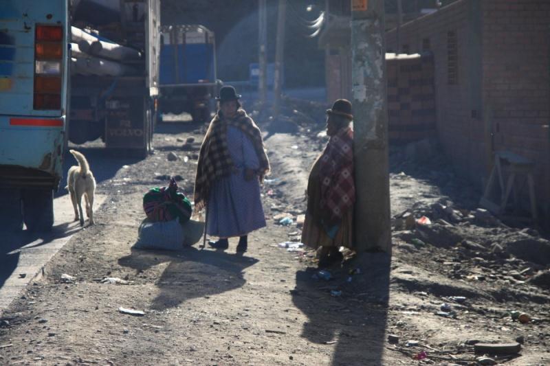 Indigenas en La Paz