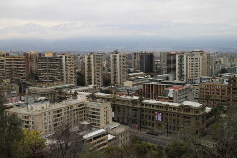 Blick über Santiago