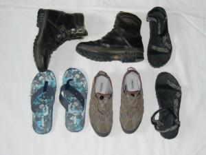 Meine Schuhauswahl. Sperrig Sperrig