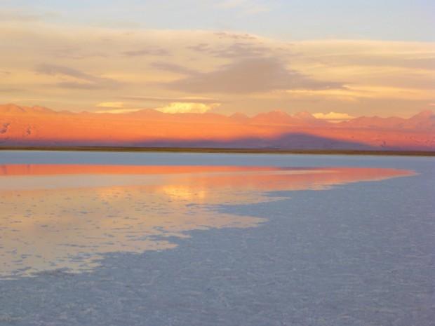 Im Hintergrund einige der 2900 Vulkane Chiles