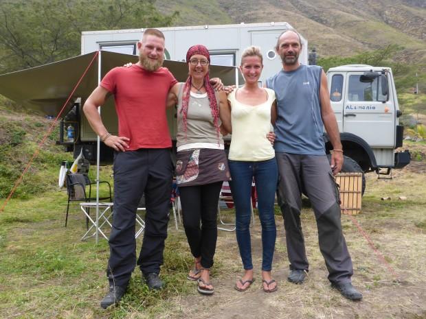 Kristina, Jens und im Hintergrund Knut