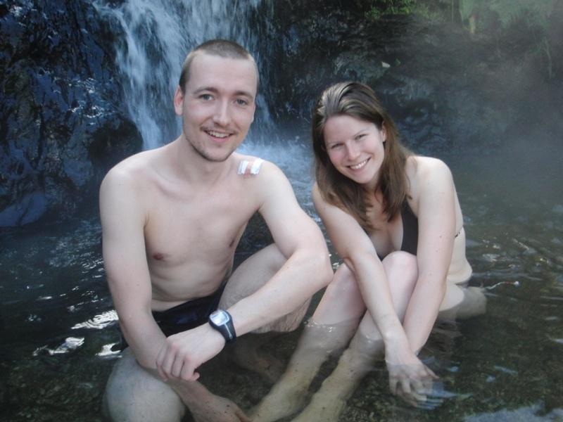 Baden in den heissen Quellen, Taupo