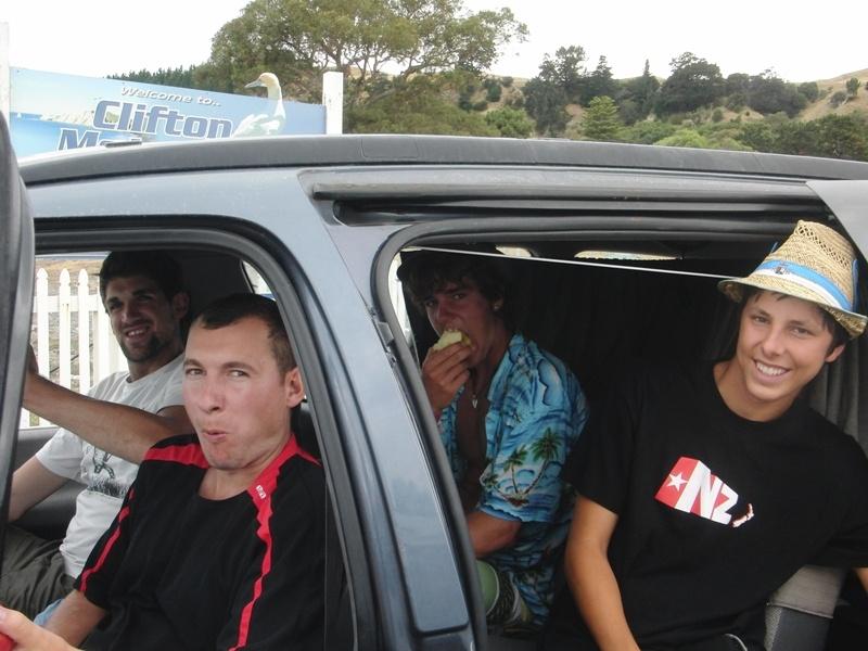 ...unsere 4 Wegbegleiter zum Cape Kidnappers