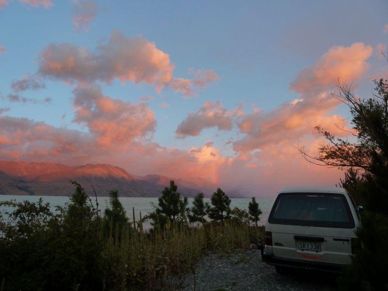 "Sonnenaufgangsstimmung am ""Lake Pukaki"""
