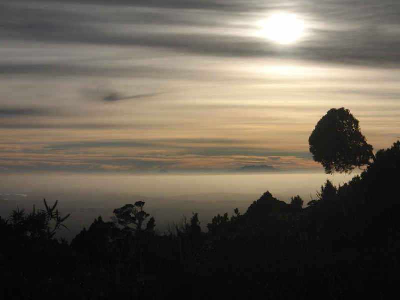 Morgenstimmung am Beginn der Wanderung