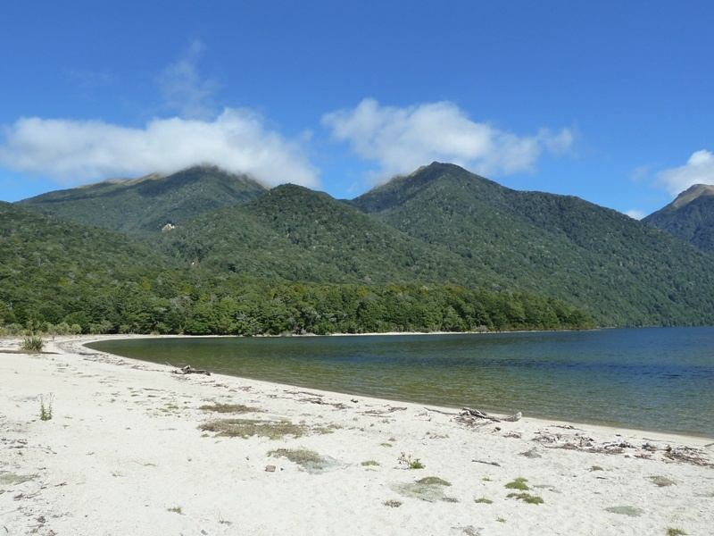 "Strand bei ""Hope Arm Hut"", Lake Manapouri"