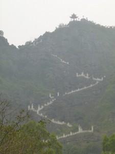 450 Stufen bis zum Gipfel