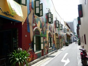 "the ""Haji Ln"" is quiet beautiful especially the drawings on the houses"