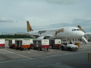 and from Singapore with Tiger airways further to the Philippines to Manila