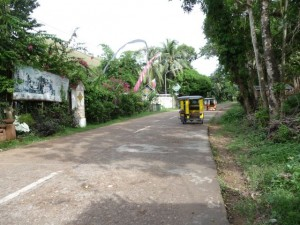 main road in front of KokosNuss Resort