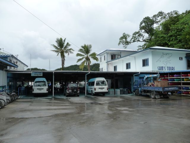 the dive center