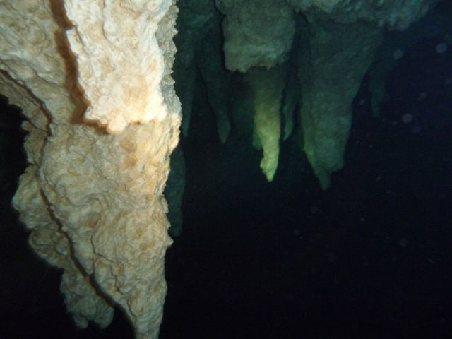 stalagtites under water
