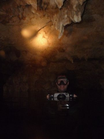 at the surface in a cavern