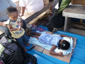 very relaxed passengers on the boat