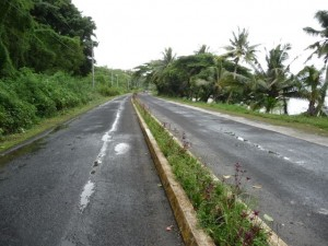 the road to the town, the most of the time empty like that