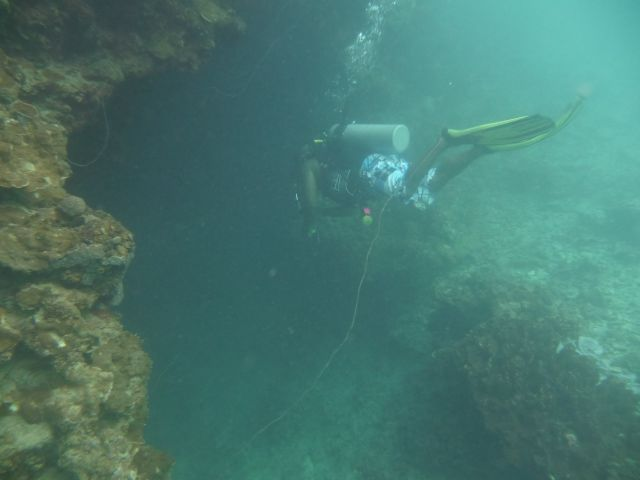 the entrance  is quiet shallow, only by 3m - 4m depth