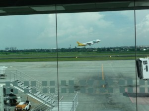 take off to the island Bohol