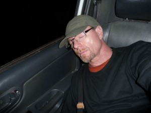 very tired Harry - Freddy joint us on our way back to Port Vila and had some wood to ship at difefrent places