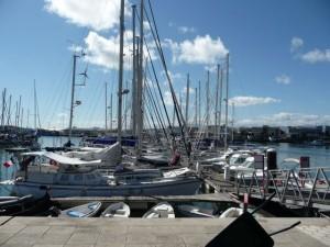 many sailing yachts