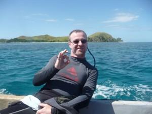 happy Harry (Mana Island in the backround)