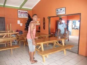 preparing in the bar area
