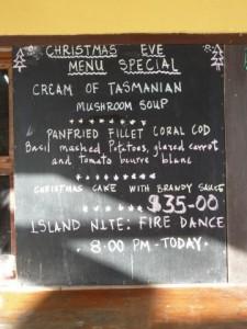 our brillant menu