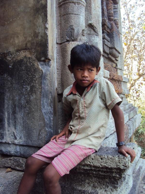 Kleiner Tempelwächter auf Phnom Da.