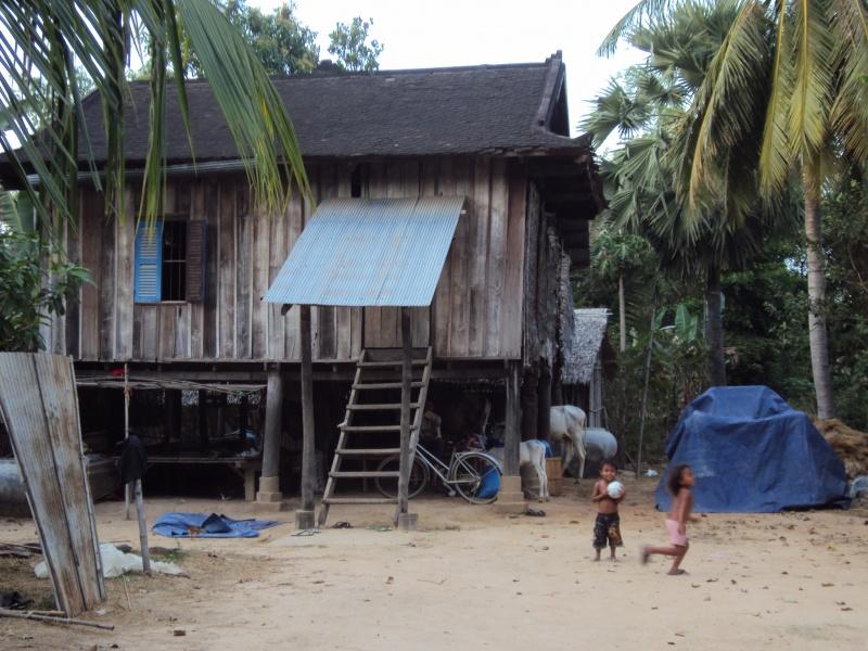 So wohnt man in Kambodscha.