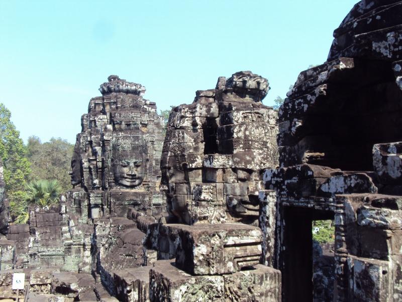 Irgendwie fühlt man sich beobachtet im Bayon-Tempel.