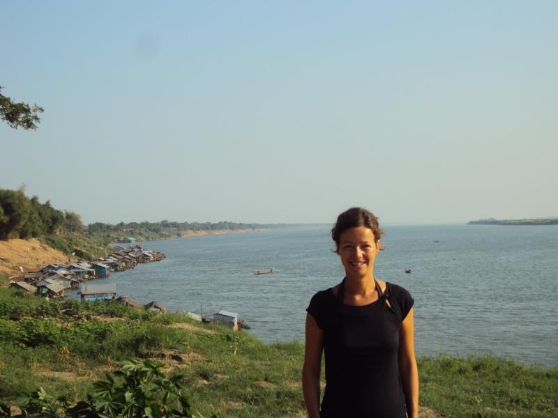 Beweisfoto: Julia am Mekong.