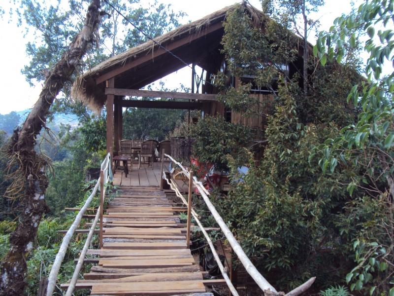 Die Tree Lodge in Sen Monorom. Mal eine etwas andere Hotel-Lobby.