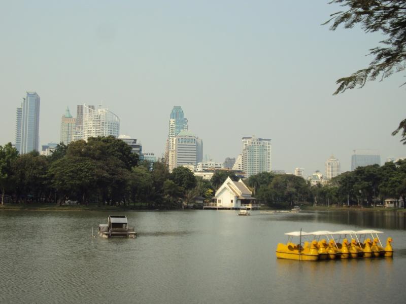 Keine Flut mehr, nur noch zahme Gewässer im Lumphini-Park.