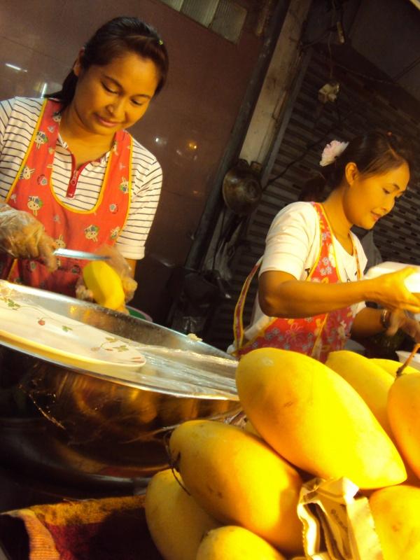 Und danach: Sticky rice mit Mango.