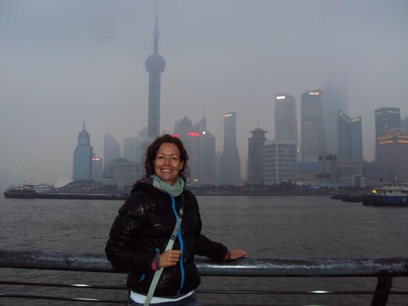 Trotzdem schön! Auf dem Huang Pu Fluss.