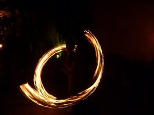 Feuershow am Freitagabend