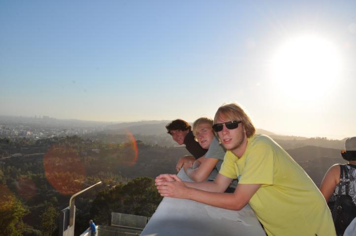 Warten auf den Sonnenuntergang am Griffith Observatory