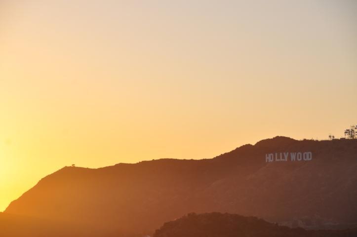 Das Hollywood-Zeichen im Abendlicht