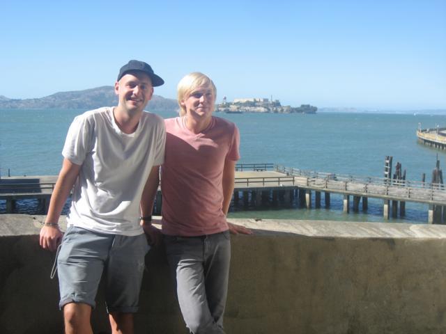 Morten und ich, Alcatraz im Hintergrund