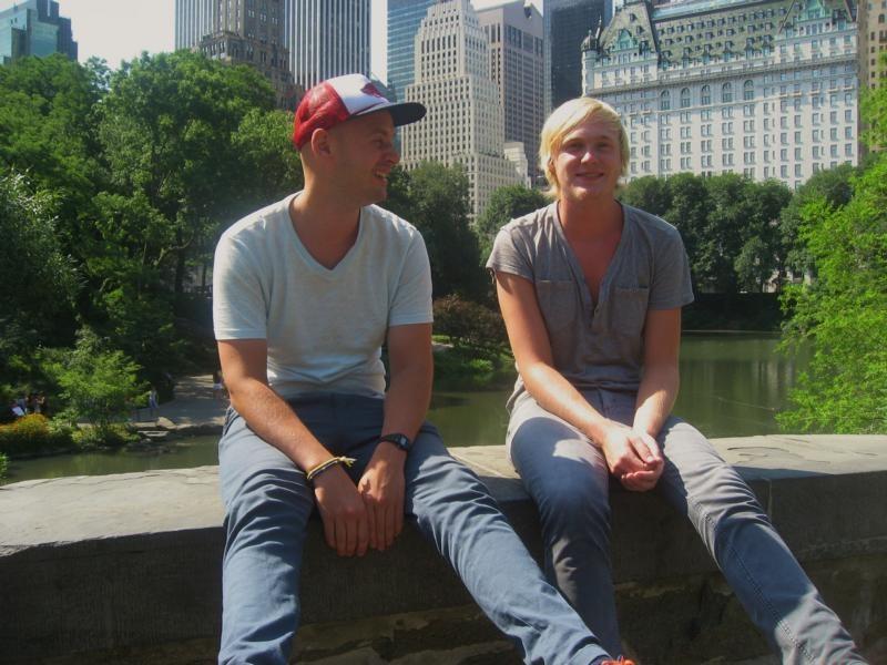 Morten und ich im Central Park