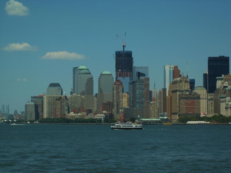 Das neue World Trade Center von der Staten Island Ferry aus