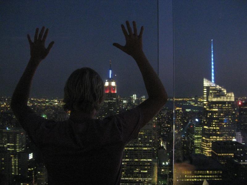 Empire State bei Nacht
