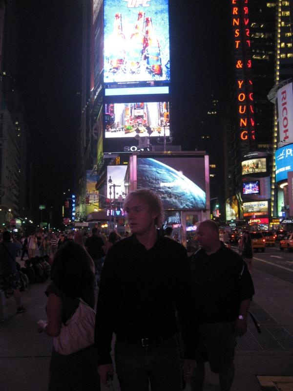 Ich am Times Square