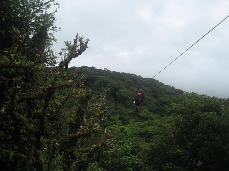 James beim Ziplining